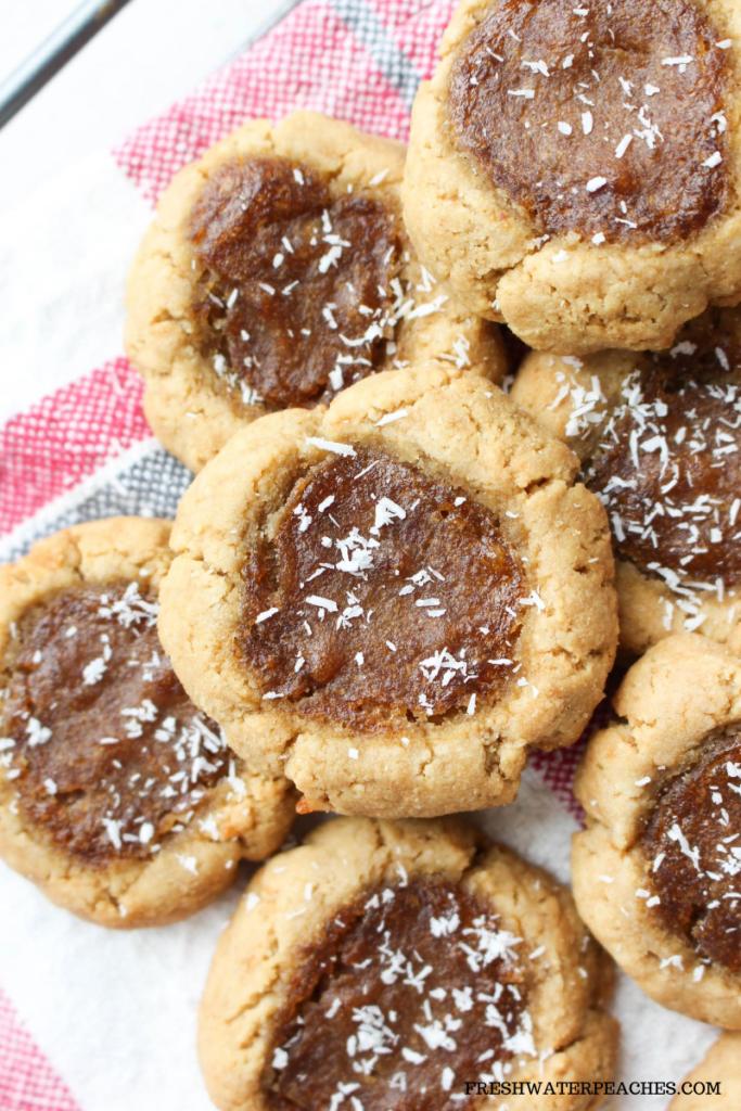 Paleo Peach Thumbprint Cookies