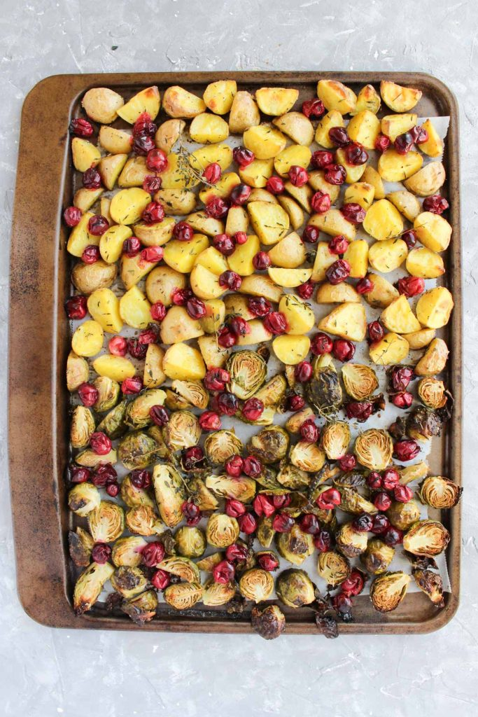 Roasted fall vegetables fresh out of the oven!