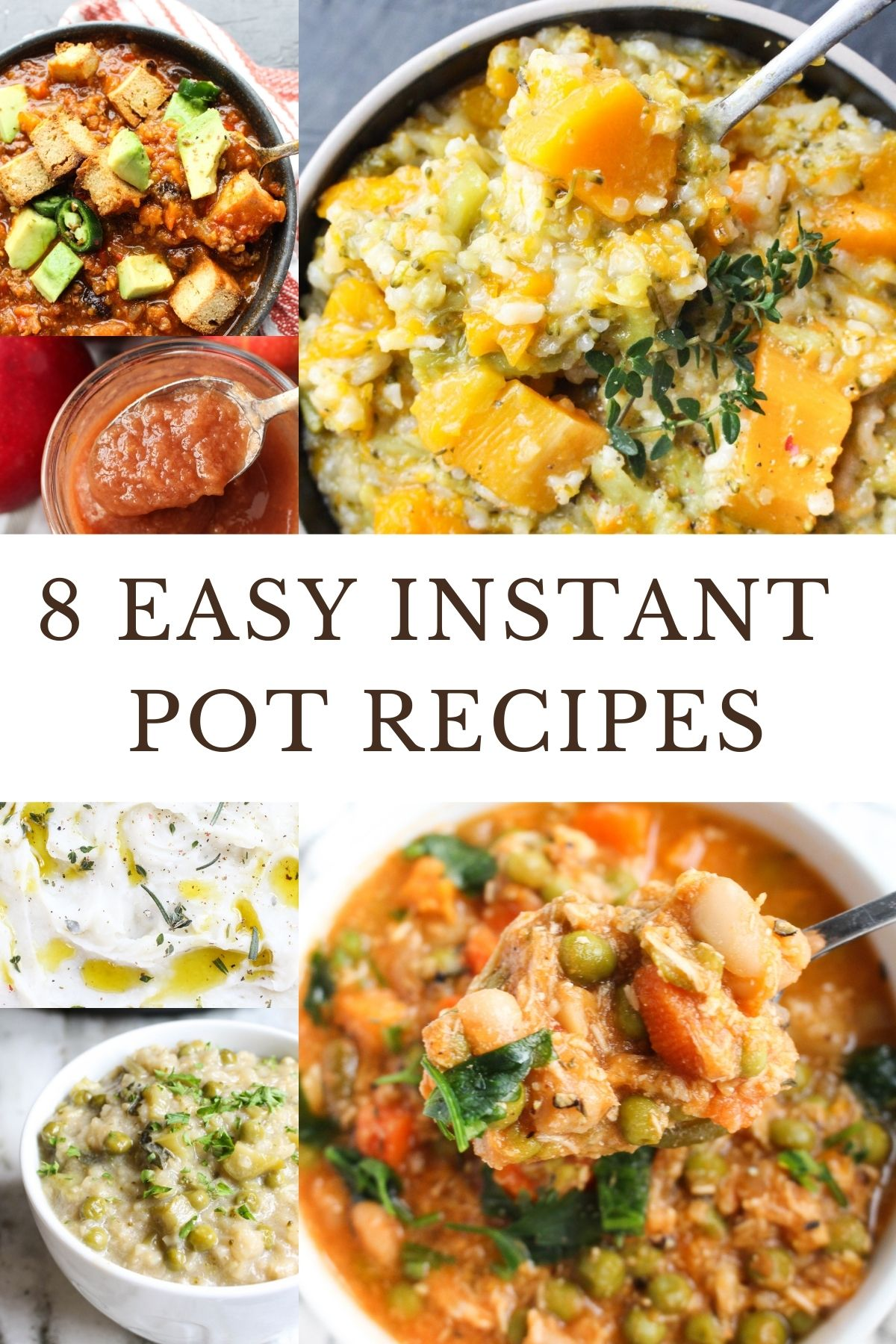 Photo collage of instant pot recipes.