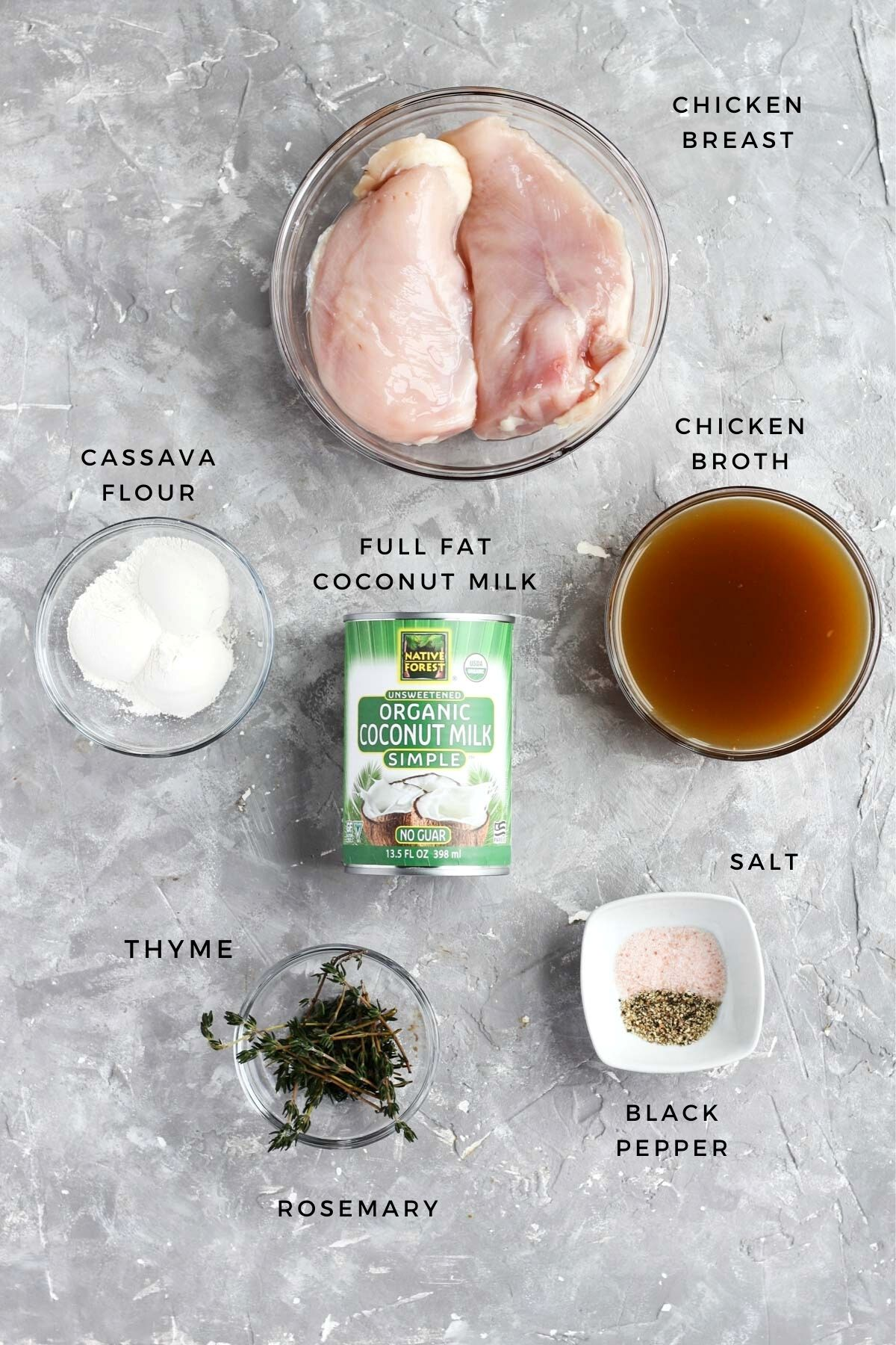Overhead shot of broth ingredients laid out.
