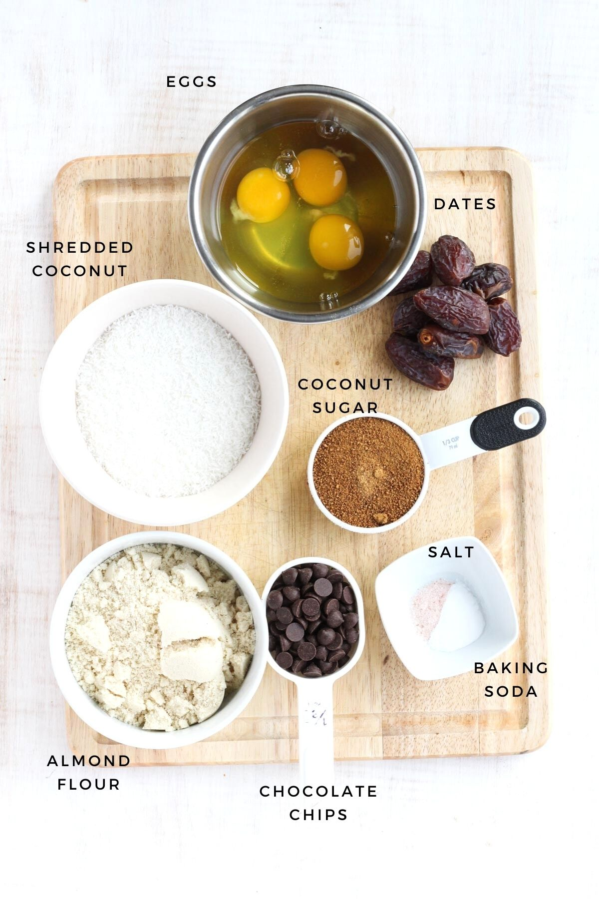 Ingredients for this recipe measured out.