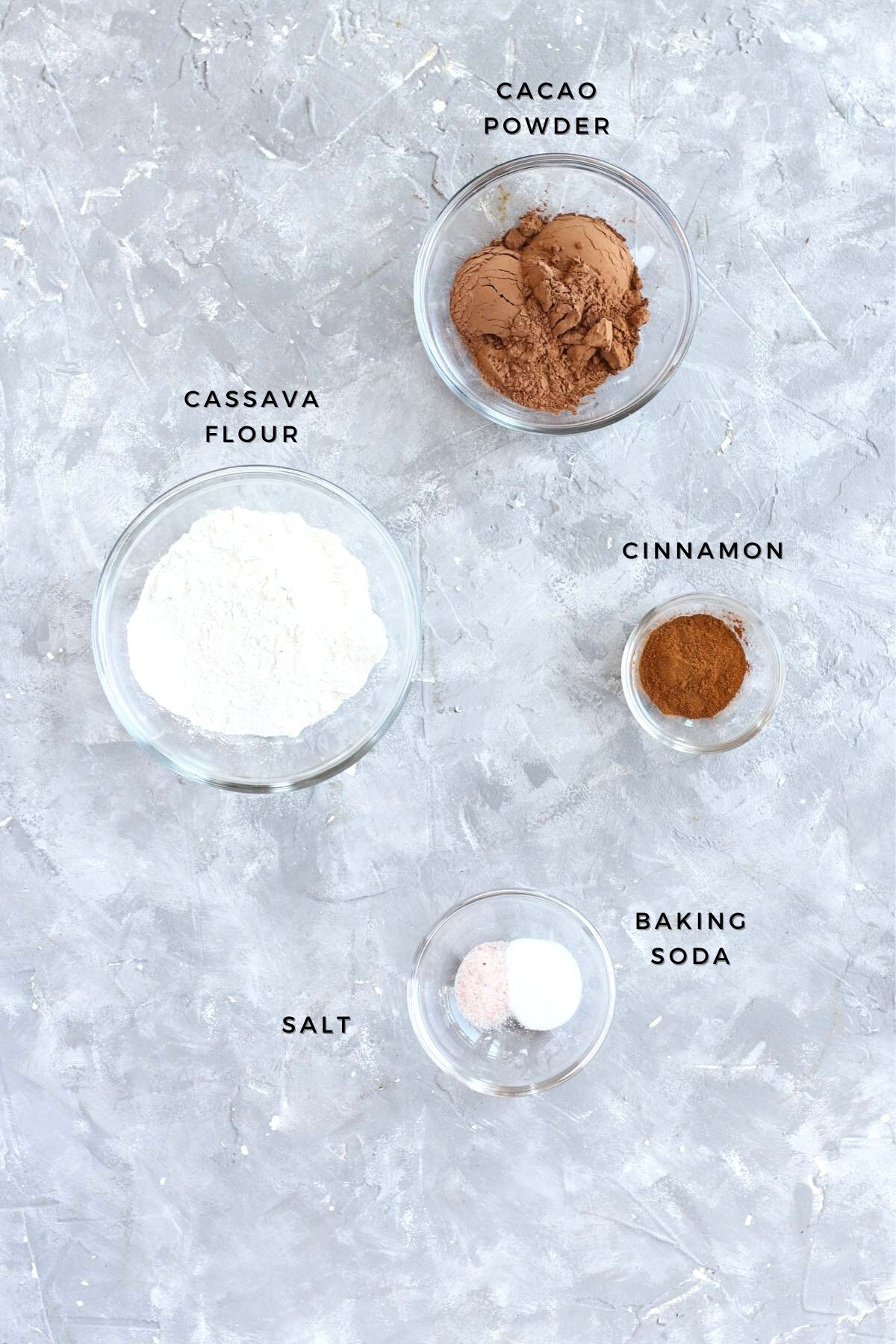 Dry ingredients measured out.
