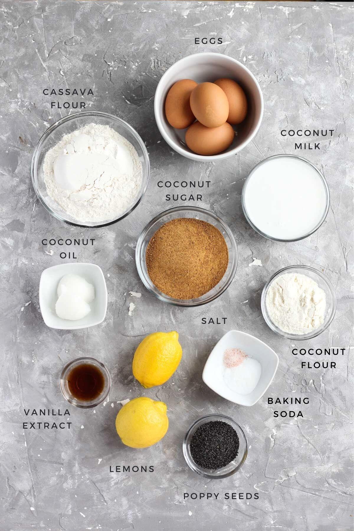 Overhead shot of ingredients.