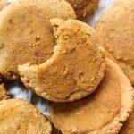 Overhead shot of pumpkin cookies.