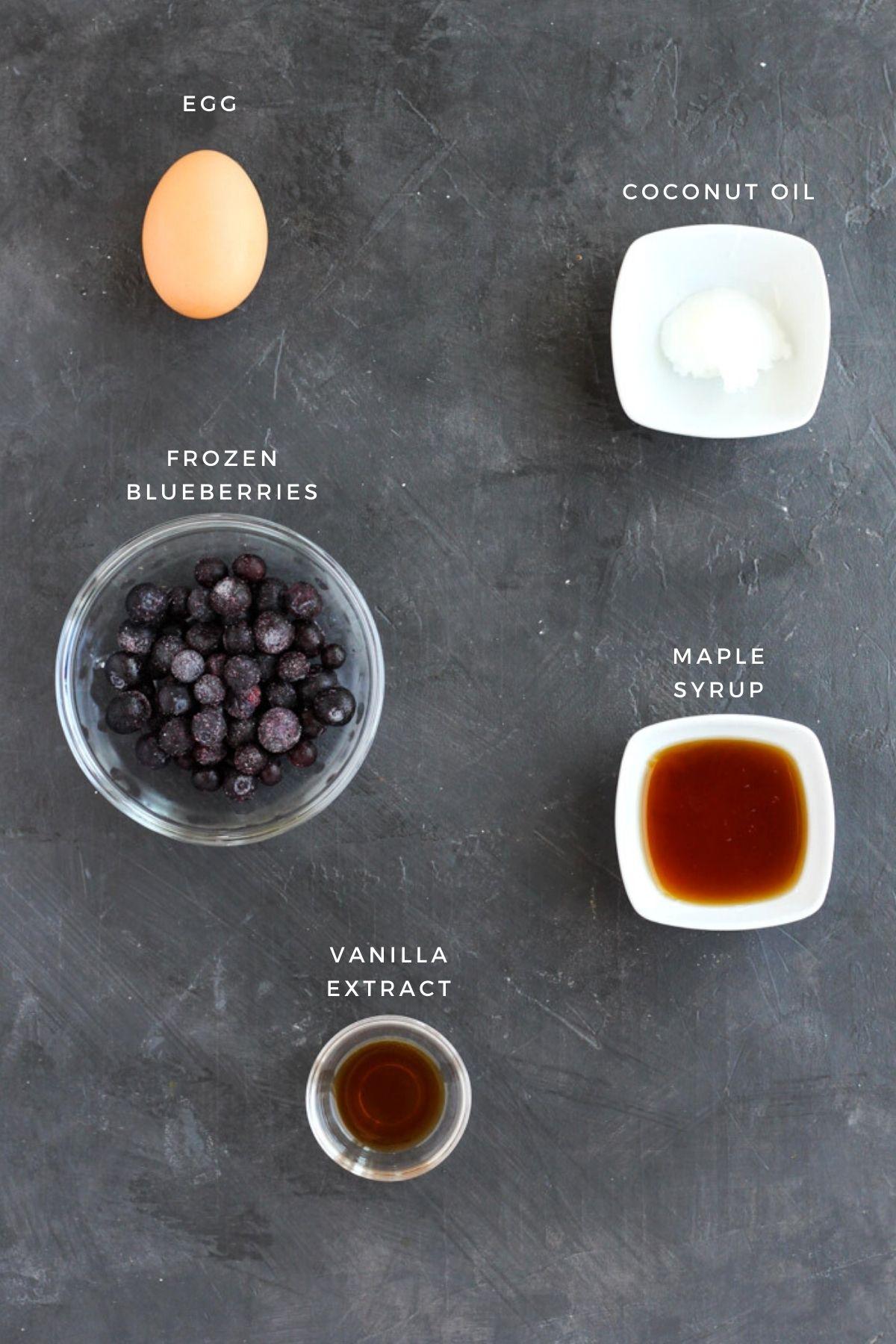 Overhead shot of wet ingredients.
