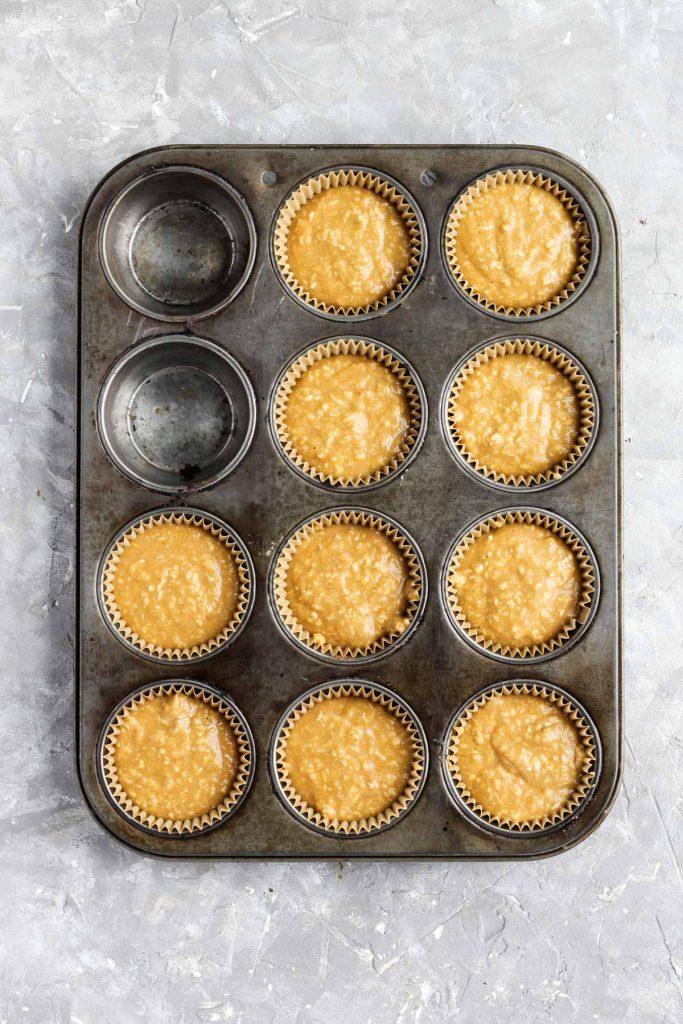 Cupcakes in baking pan.