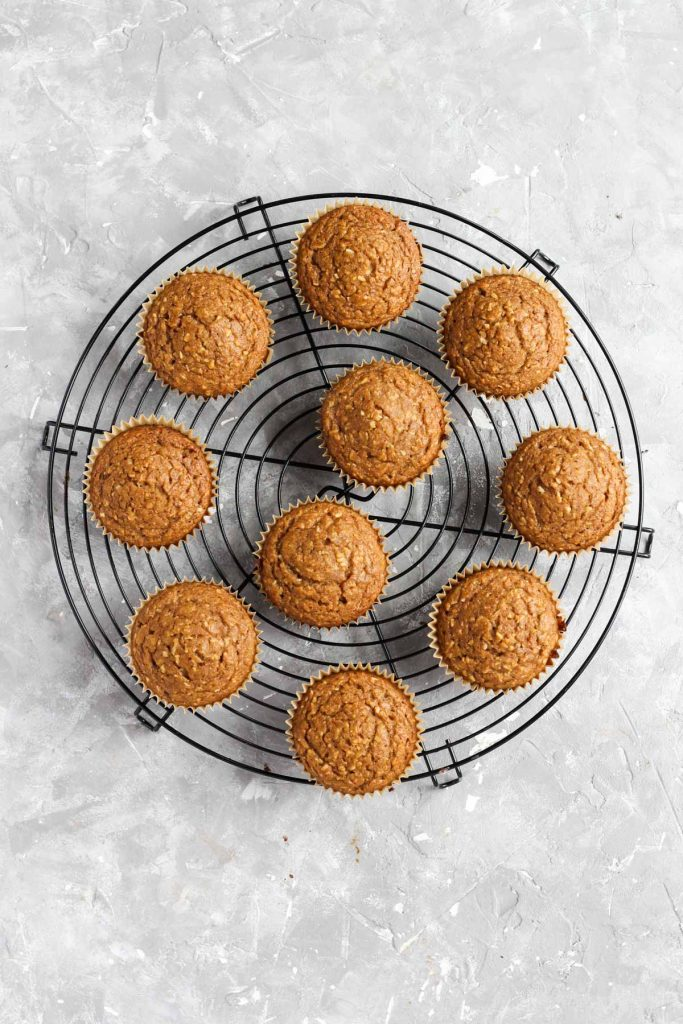 Cupcakes on cooling rack.