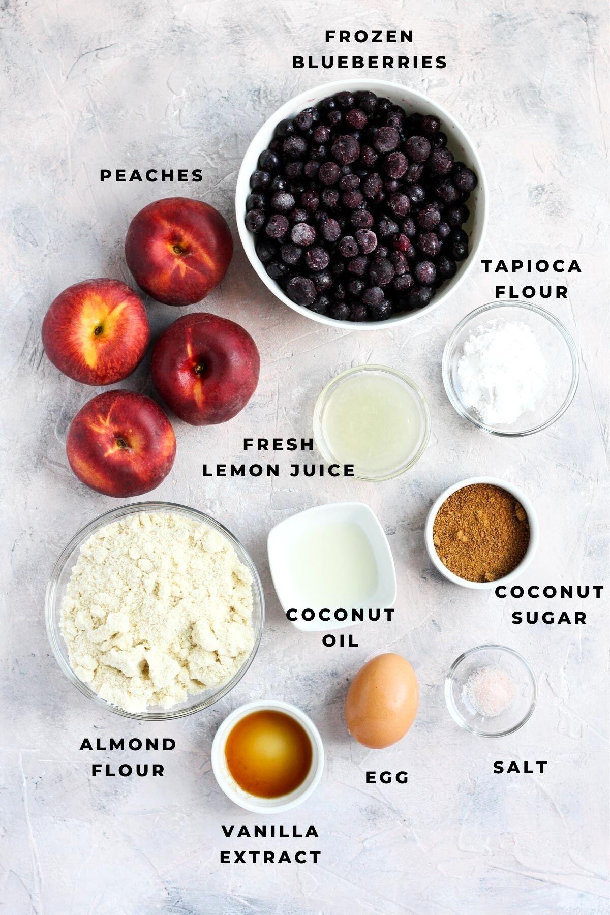 Overhead shot of recipe ingredients.